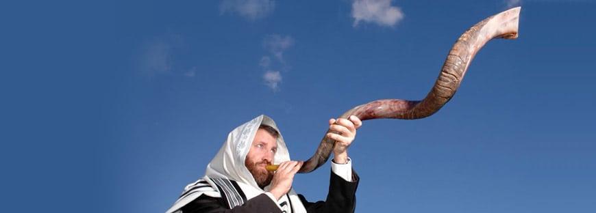 Shofar de Antílope Usado na Festa de Rosh Hashanah