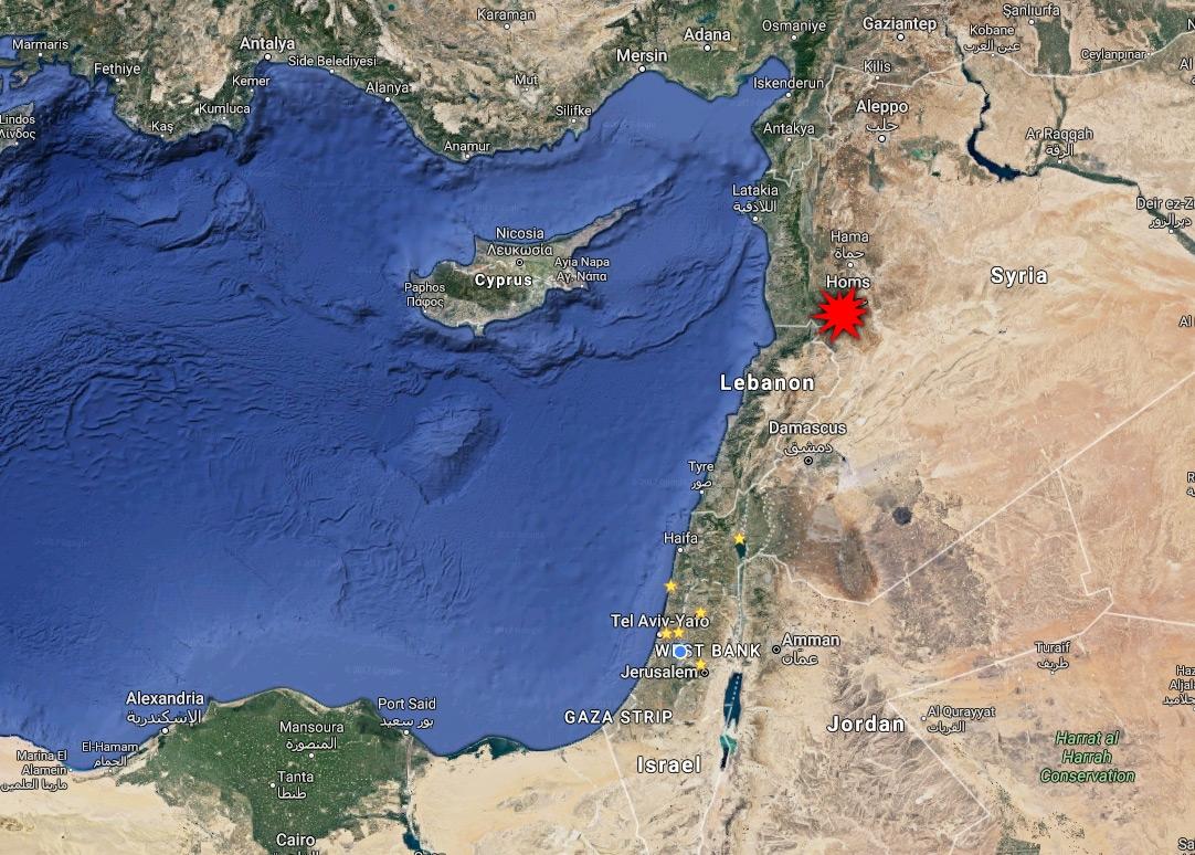 Região onde teria ocorrido ataque contra fábrica de armas químicas