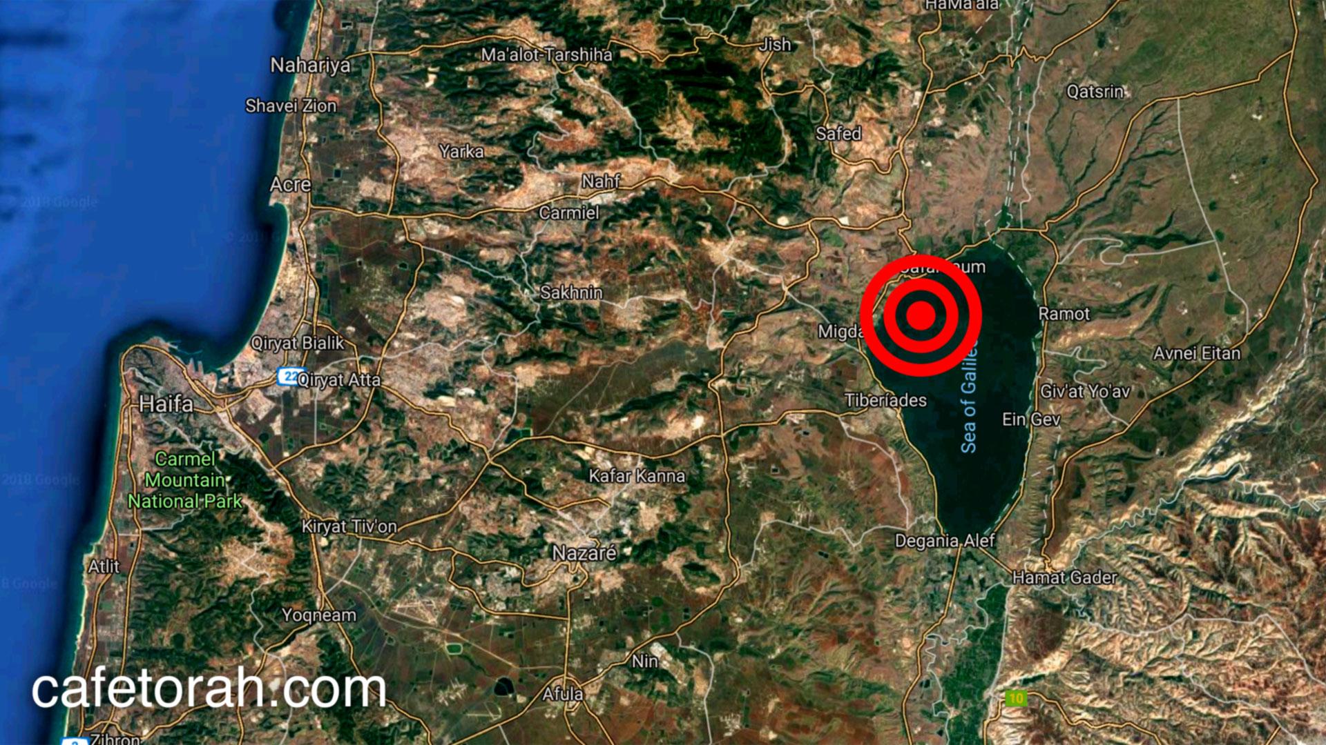 Resultado de imagem para terremoto mar galiléia